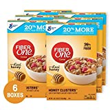 Fiber One Cereal Honey Clusters 17.5 oz Pack of 6