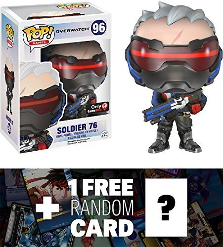 Soldier 76 : Funko POP! Games x Overwatch Vinyl Figure + 1 F