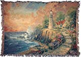 Manual Woodworkers and Weavers Inc. Thomas Kinkade The Light of Peace Tapestry Throw