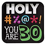 Holy Bleep Youre 30 7-inch Birthday Paper Plates (24 Count)
