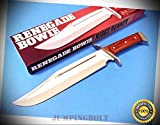 RIDGE RUNNER RR681 RENEGADE BOWIE Pakkawood full tang knife 15 1/2'' overall - Knife for Bushcraft EMT EDC Camping Hunting