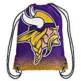 Forever Collectibles NFL Unisex Gradient Drawstring Backpackgradient Drawstring Backpack, Minnesota Vikings, Standard