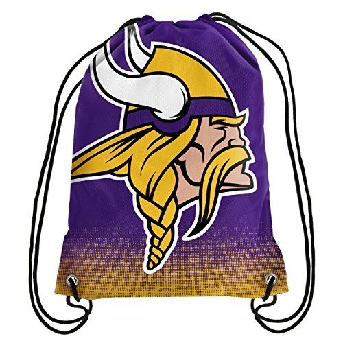 Price comparison product image Forever Collectibles NFL Unisex Gradient Drawstring Backpackgradient Drawstring Backpack, Minnesota Vikings, Standard