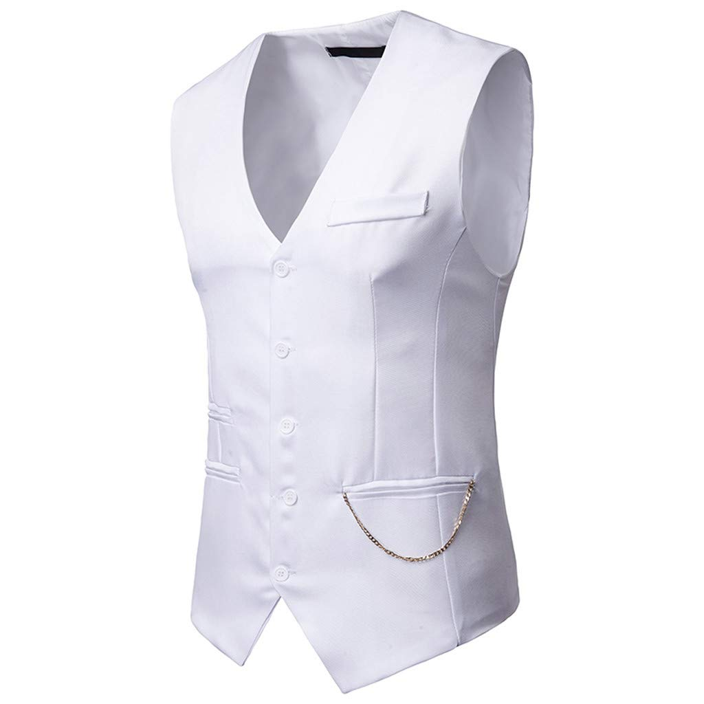 Mens Business Casual Waistcoat Vest Coat Formal Classic Blazer Wedding Party Jacket Suits Luxury Vintage Retro Smart Elegant Dinner Suits Jacket Trench Size M-XXXL