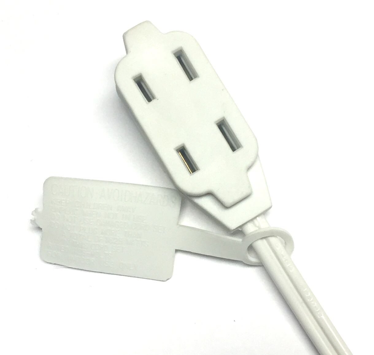 BRUFER 25363 2-Pack 16 AWG 3-Outlet White Indoor Extension Cord - 12 Feet - - Amazon.com