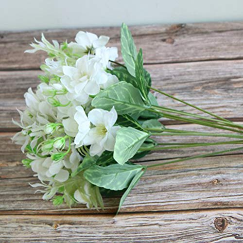 LIOOBO-12pcs-Artificial-Flowers-Gardenia-Simulation-Jasmine-Flowers-for-Home-Office-Decor-White