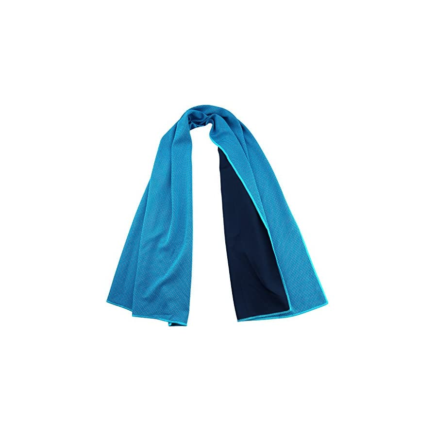 "POY Cooling Towel Instant Relief for Sports Fitness and Hot Environment 40""x12"" Use as Cool Towel for Neck Scarf"
