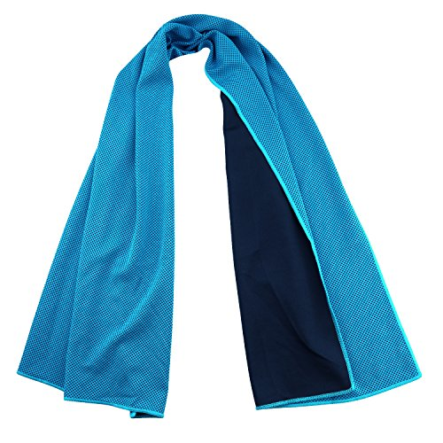 """POY Cooling Towel Instant Relief for Sports Fitness and Hot Environment 40""""x12"""" Use as Cool Towel for Neck Scarf"""