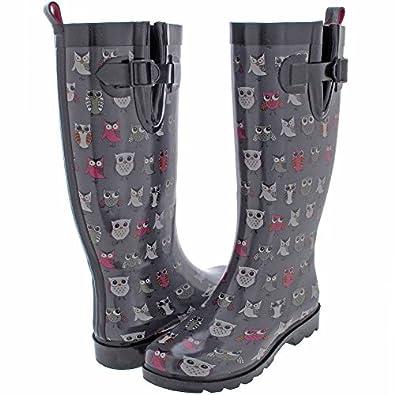 Amazon.com | Capelli New York Ladies' Shiny Pop Owls Printed Rain ...
