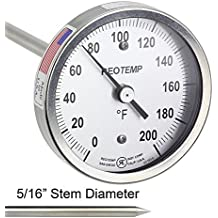 REOTEMP Heavy Duty Compost Thermometer - Fahrenheit (48 Inch Stem)