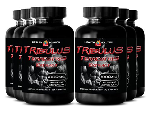 Tribulus fuel - Tribulus Terrestris Extract 1000mg Muscle Strength - Sex booster pills (6 Bottles 540 Tablets) by Health Solution Prime