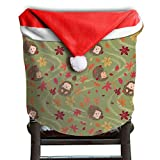Hedgehog Animals Christmas Chair Covers Cool Easy To Carry Chair Covers For Christmas For Boyfriends Dinner Chair Covers Holiday Festive