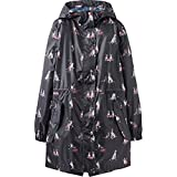 Joules Golightly Printed Waterproof Womens Packaway Coat (Z) Dogs in Leaves Print UK12 EU40 US8