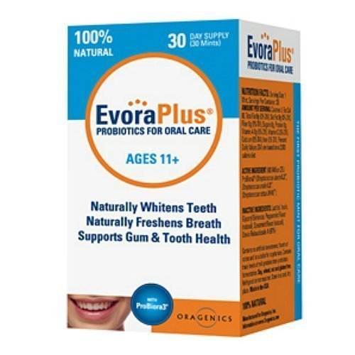 ProBioraPlus (Formerly EvoraPlus) Oral Probiotic Mints | Support Healthy Teeth and Gums | Freshen Breath | Whiten Teeth | 30 Day Supply (30g)