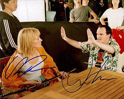 Signed Kill Bill (Quentin Tarantino/Uma Thurman) 8x10 Photo by Quentin Tarantino and Uma Thurman autographed (Thurman Bill Kill Uma Photo)