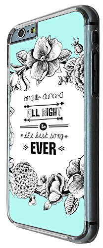 503 - Floral We All Danced All Night To The Best Song Ever Design iphone 6 PLUS / iphone 6 PLUS S 5.5'' Coque Fashion Trend Case Coque Protection Cover plastique et métal