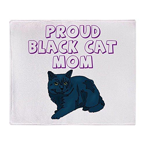 (CafePress Proud Black Cat Mom Soft Fleece Throw Blanket, 50