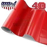 red chevy s10 emblem - 4D Red Gloss Carbon Fiber Chevy Chevrolet Bowtie Emblem Vinyl Car Wrap Decal Sticker Cover 5