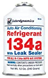 Interdynamics (RLS-134CA-12PK) R-134a Refrigerant with Leak Sealer - 12 oz., (Pack of 12)