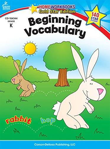 Beginning Vocabulary, Grade K: Gold Star Edition (Home Workbooks)