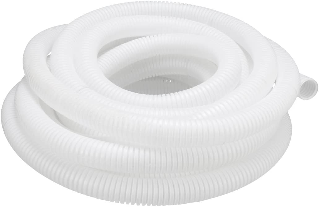 uxcell Conduit Tube 8m//26ft Length 0.8-inch X 1-inch Corrugated Conduit Pipe Hose Flexible Tubing