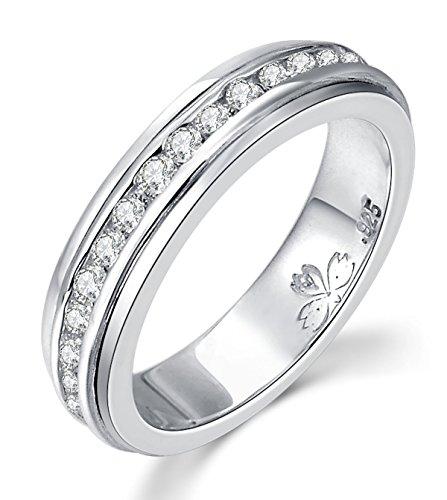 "Energy Stone ""SUPER NOVA"" High Polish Sterling Silver Meditation Spinner Ring (Style# US55)"