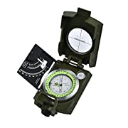#LightningDeal 90% claimed: Proster Professional Compass Military Army Metal Sighting Clinometer with Carry Bag for Camping Hunting Hiking Geology and Other Outdoor Activities