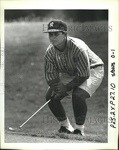1992 Press Photo Heather Bowie Finishing Golfing  Freeport Mcmoran Golf Classic