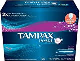 Tampax Pearl Ultra Plastic Applicator Tampons, Unscented - 36 ct