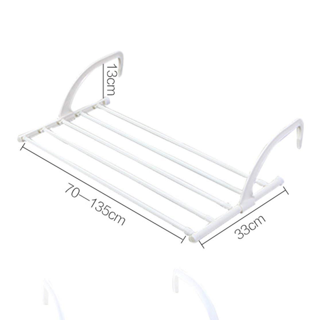 LouiseEvel215 Balc/ón Multifuncional Ropa Rack de Secado Ropa Interior retr/áctil al Aire Libre Percha Poste Plegable Estante de Secado