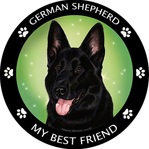 My Best Friend German Shepherd - Black Magnet