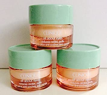3 X 7ml Clinique All About Eyes Eye Cream Reduces Circle Puffs 21ml 0.63oz Total