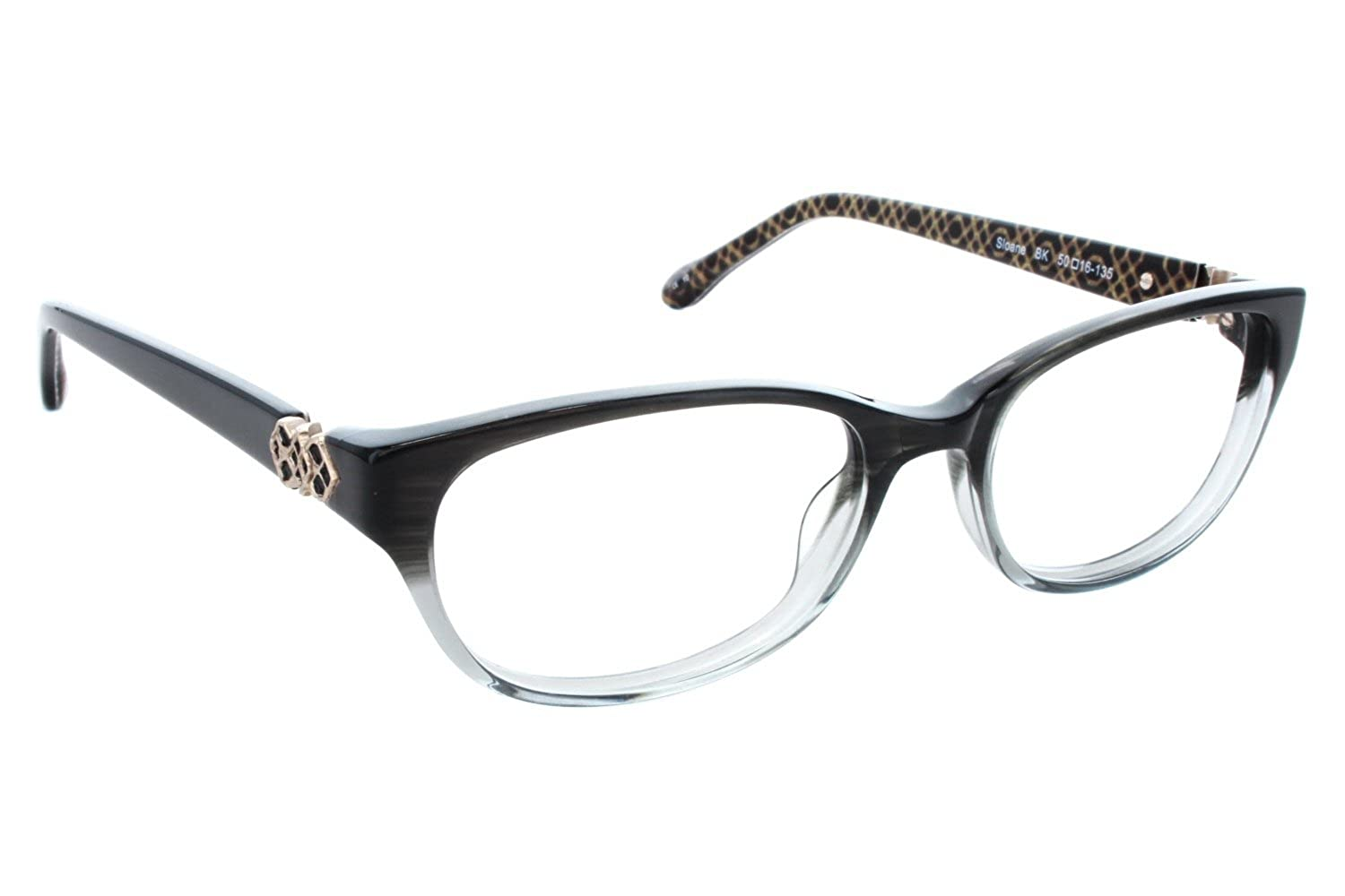 3ef2b536a39 LILLY PULITZER Eyeglasses SLOANE Black Crystal 50MM at Amazon Women s  Clothing store