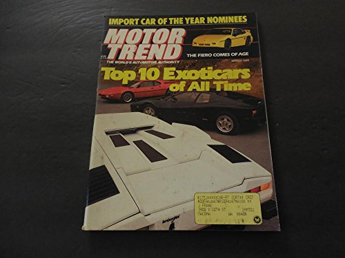Motor Trend Mar 1988 Top Ten Exotic Cars Of All Time (Best Exotic Cars Of All Time)