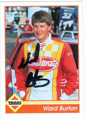 Autograph Warehouse 41164 Ward Burton Autographed Trading Card Auto Racing 1992 Traks No. 27 from Autograph Warehouse