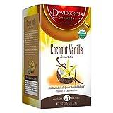 Davidson's Tea Coconut Vanilla, 25-Count Tea Bags (Pack of 6)