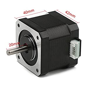DROK 40mm High Torque Bipolar Stepper Motor Nema 17, 0.46Nm Low Noise 42 DC Step Motor Kit, 1.8°2-Phrase Universal Electric Motor DC motor for 3D Printer Laser Engraving