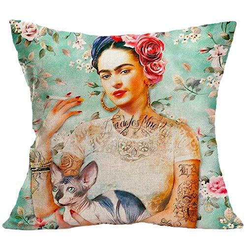 Amazon.com: Tanny Note Art Frida Kahlo - Funda de cojín para ...