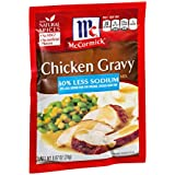 McCormick 30% Less Sodium Chicken Gravy Mix (.87 oz Packets) 4 Pack