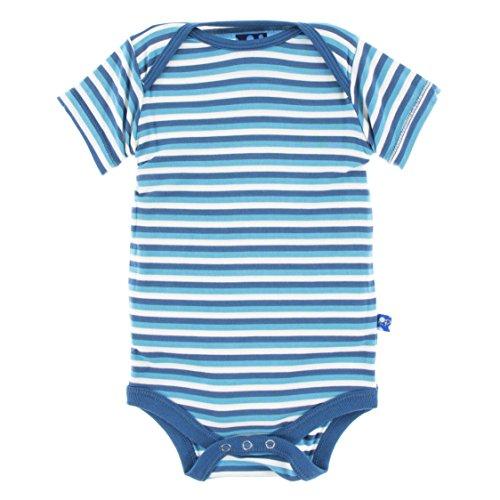 Confetti Stripe (KicKee Pants Little Boys Print Short Sleeve One Piece, Confetti Anniversary Stripe, 0-3 Months)