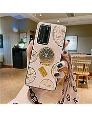 NiaCoCo Compatible con Huawei Mate 30 Pro Funda 1*Protector de Pantalla,360 Grados Soporte de Anillo de Rotación Ultra Thin Anti Scratch con Pequeños Diamantes Carcasa de Telefono(Dorado)