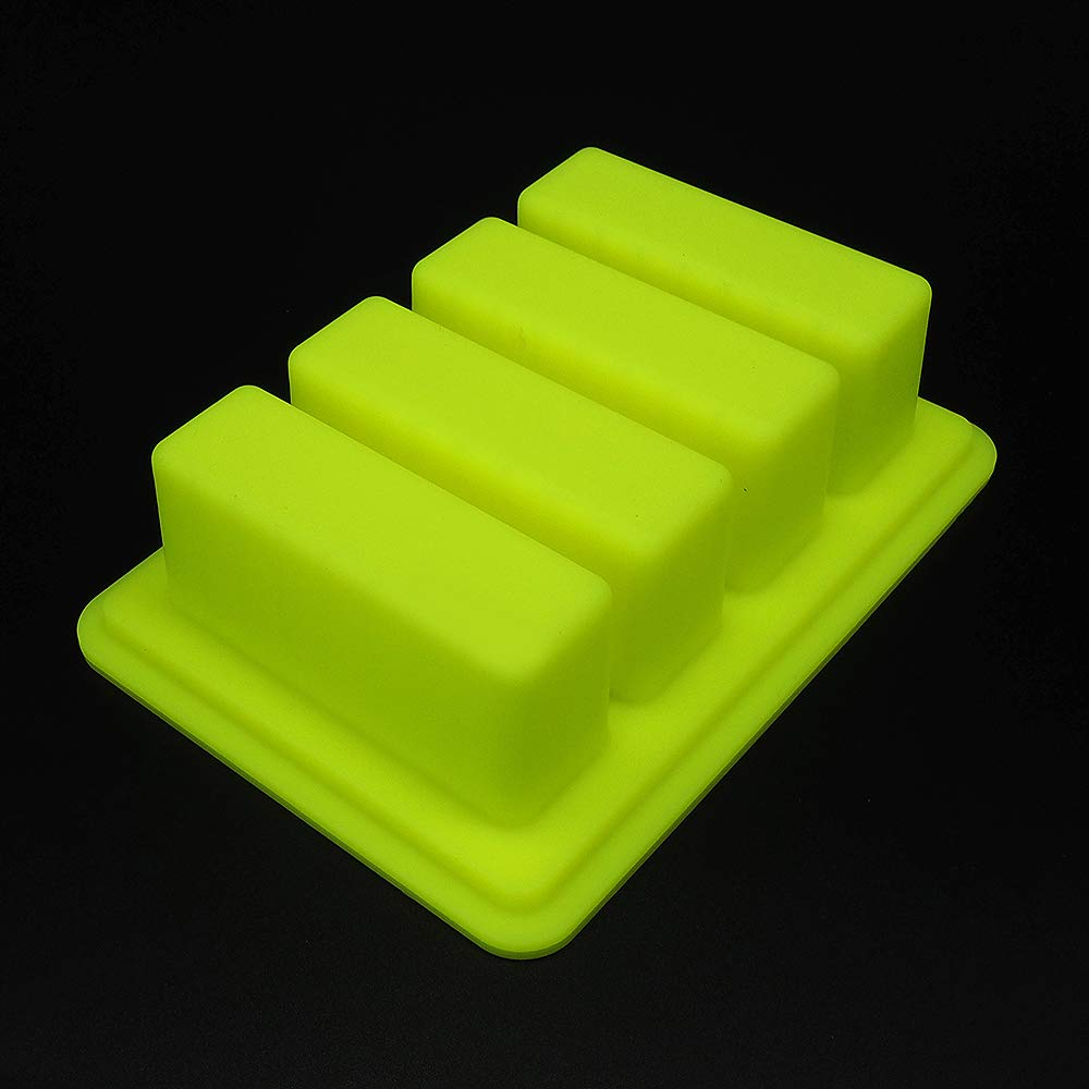 YHSWE Black Large butter Silicone container 3 Cavities Rectangle butter Mold Soap Bar Storage Jar