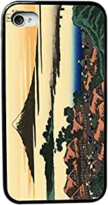 Rikki KnightTM Katsushika Hokusai Art Dawn at Isawa in the Kai province Design iPhone 5 & 5s Case Cover (Black Rubber with bumper protection) for Apple iPhone 5 & 5s by lolosakes