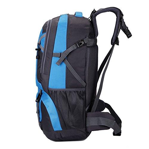 viaggio zaino da escursionismo, campeggio 60L trekking zaino Zaino casual vacanza borse sport outdoor zaino (blu)