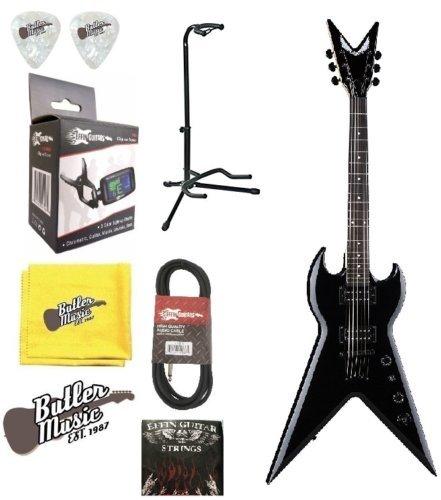 Dean negro clásico spltx CBK guitarra eléctrica de cuerpo sólido cadena Bundle: Amazon.es: Instrumentos musicales