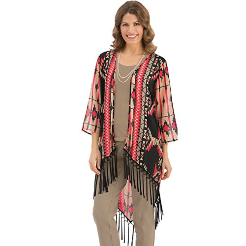 Womens Southwest Fringe Jacket Plus Size