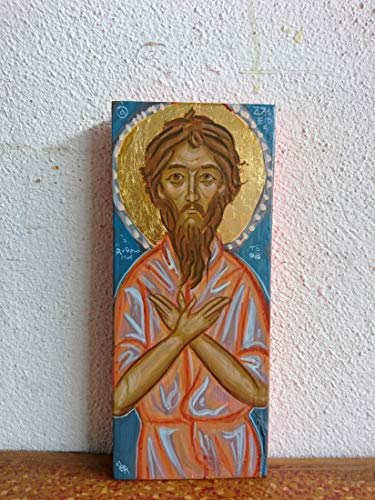 St Alexios the Man of God- Saint Alexis orthodox russian greek icon hand painted byzantine art