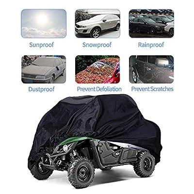 ATV Cover,Waterproof Protects 4 Wheels Rain Covers from Sun or Snow for Most Honda, Yamaha, Polaris, Suzuki, Kawasaki,88'' x 39.2'' x 42.4'': Automotive