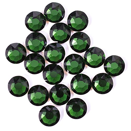Swarovski - Create Your Style Hotfix 20SS Dark Moss Green 3 packages of 20 Piece (60 Total Crystals) (Green Swarovski Glass)