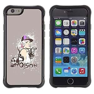 """Pulsar iFace Series Tpu silicona Carcasa Funda Case para Apple iPhone 6+ Plus(5.5 inches) , Veneno Cita Swag del cráneo del estilo de la mujer rubia"""""""